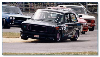 Vintage Volvo Racing Action