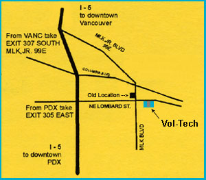 Portland Volvo Repair Location Map